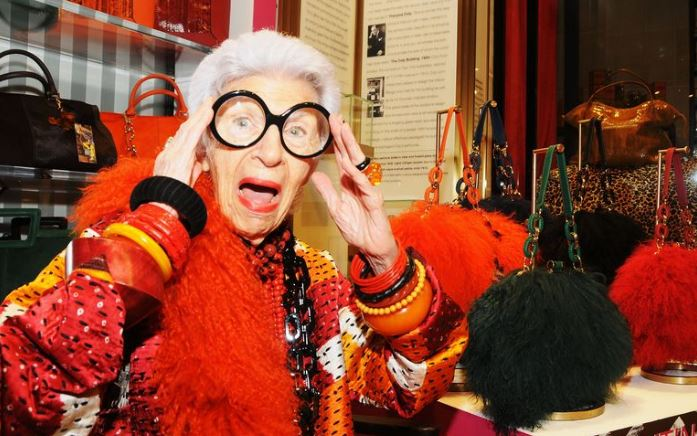 "Iris Apfel: ""Life is very grey, so fashion should always be fun"